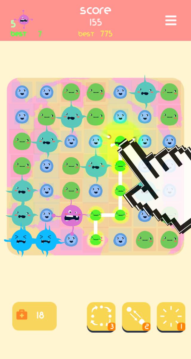 Merge puzzle Bacteria Hero