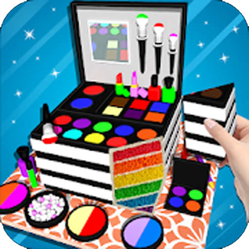 Cosmetic Box Cake Maker 3D! Makeup Cake Cooking