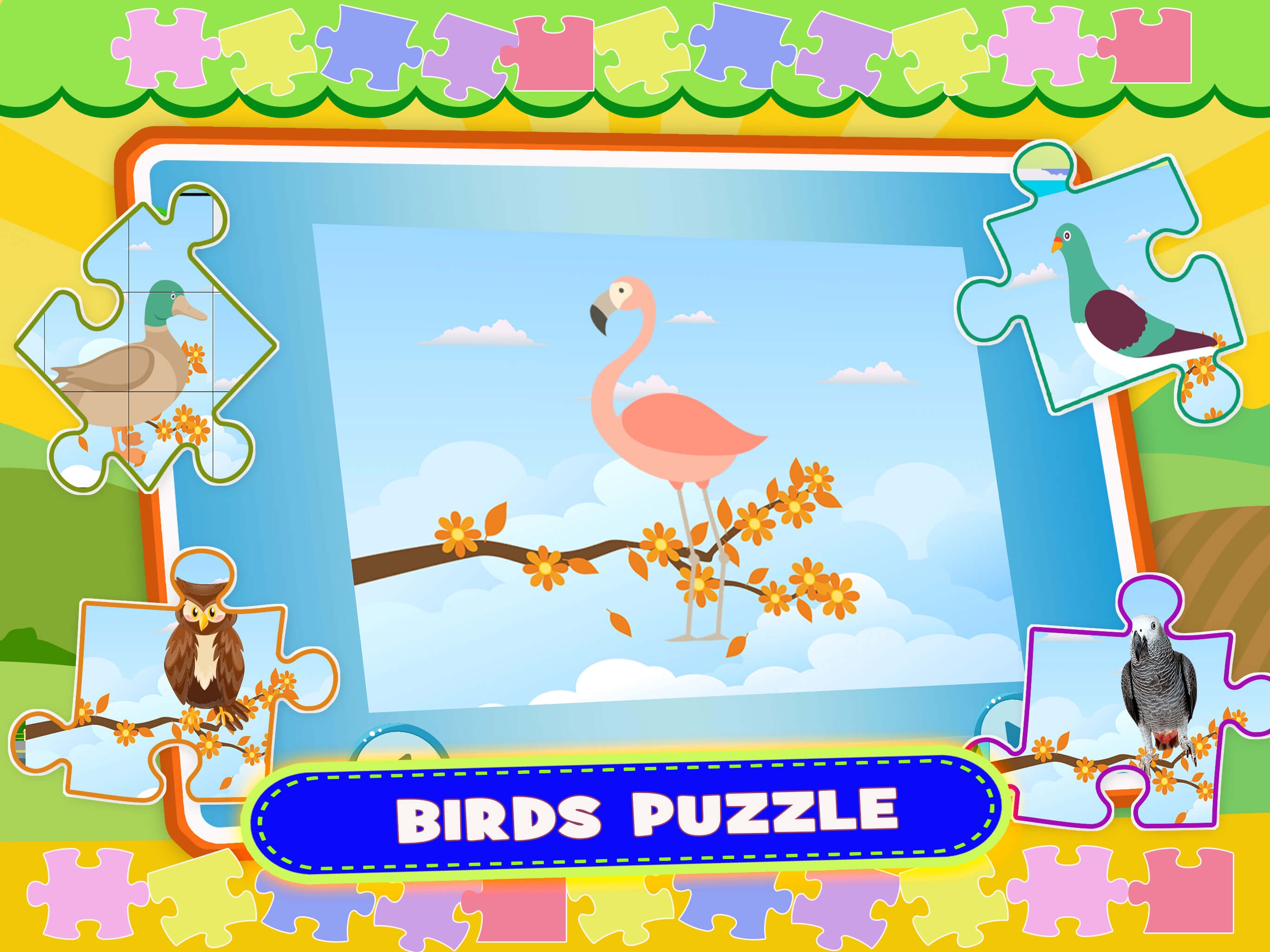 Jigsaw Puzzle Book Games - Letters Animals Puzzles