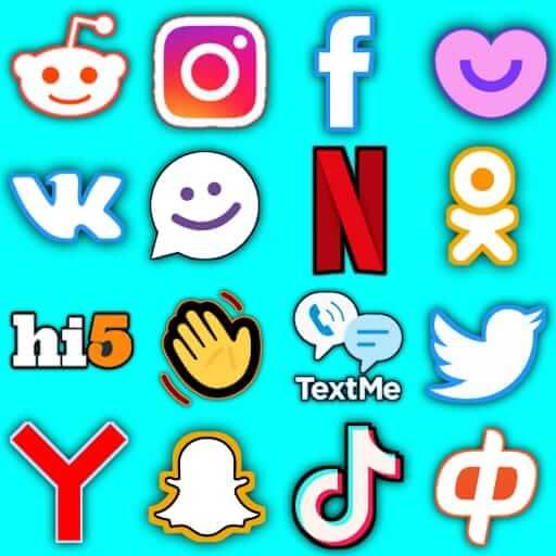 All Social Networks & Social Media Apps- Universal