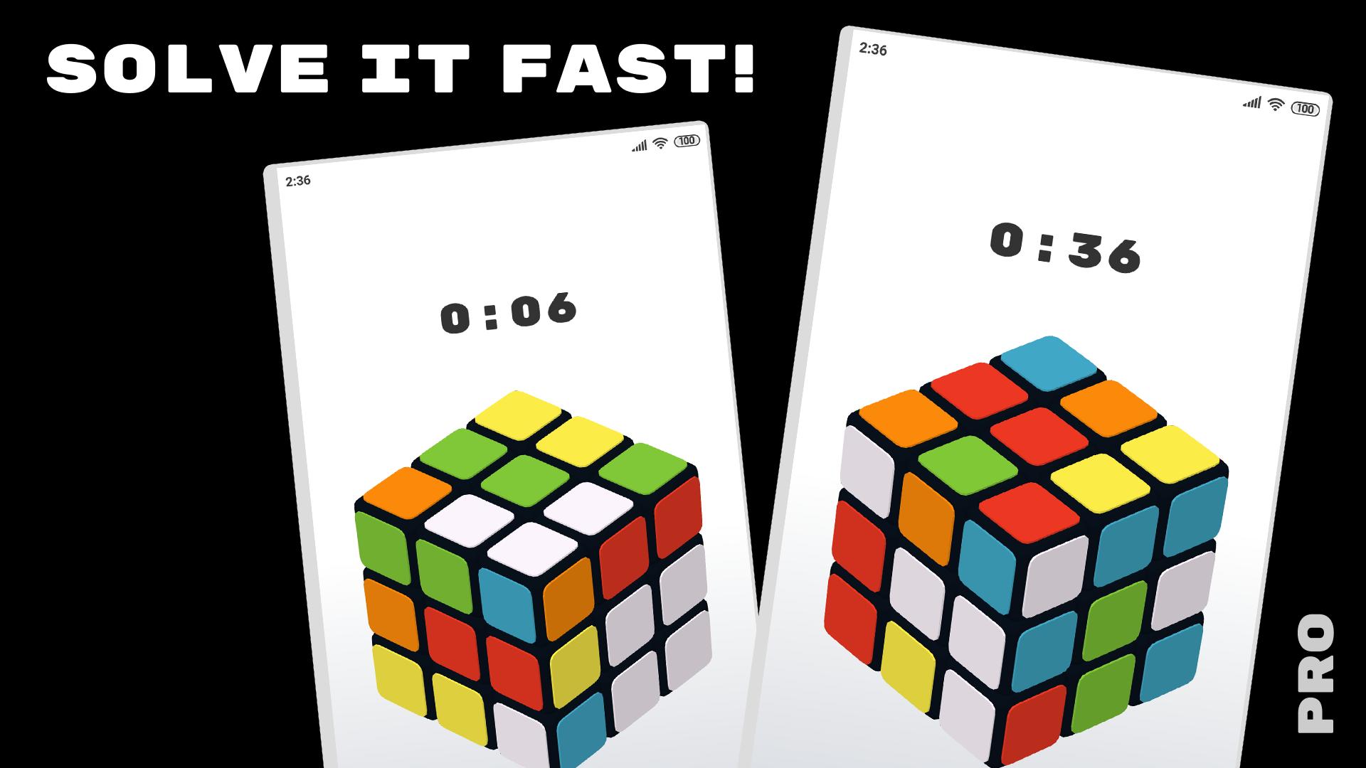 C U B E × PRO — Rubiks cube 3d game