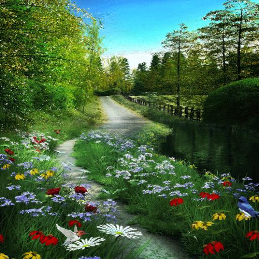 Garden Way Live Wallpaper