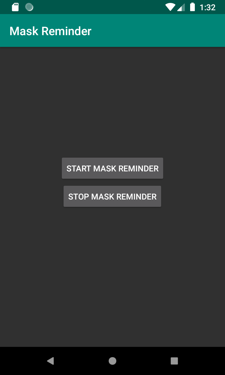 Mask Reminder Helper