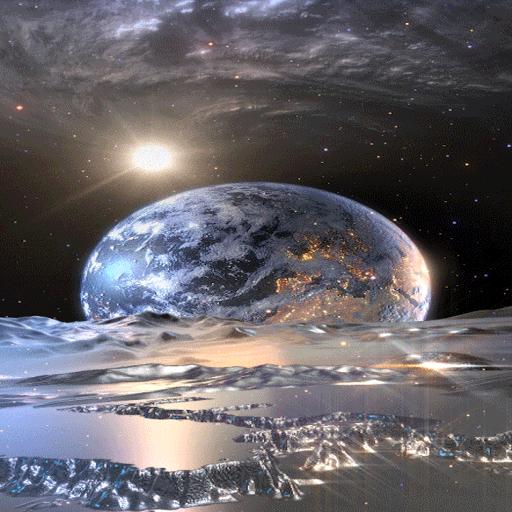 Silver Galaxy Live Wallpaper