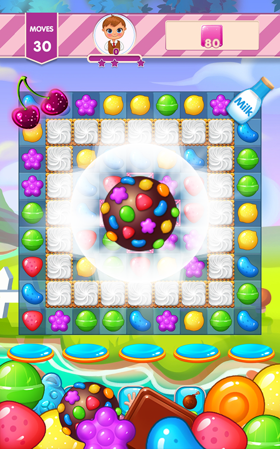 Sweet Day 2 - Adventure Jelly Puzzle Match 3 Game