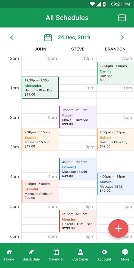 Salonist Scheduling App