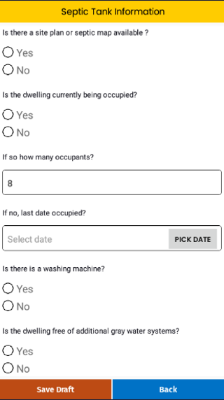 Septic RX - Onsite septic inspection form