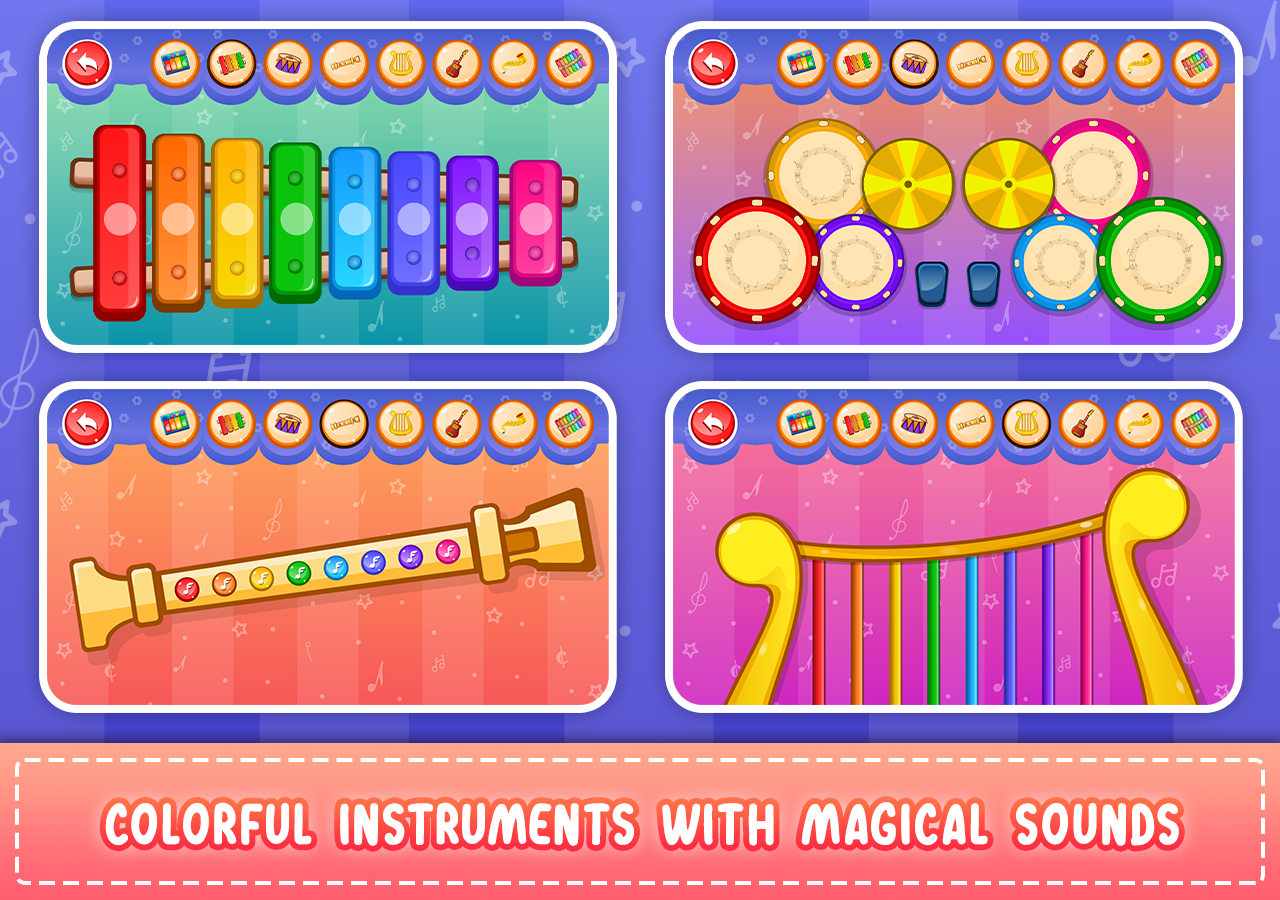 Kids Piano: Animal Sounds & musical Instruments