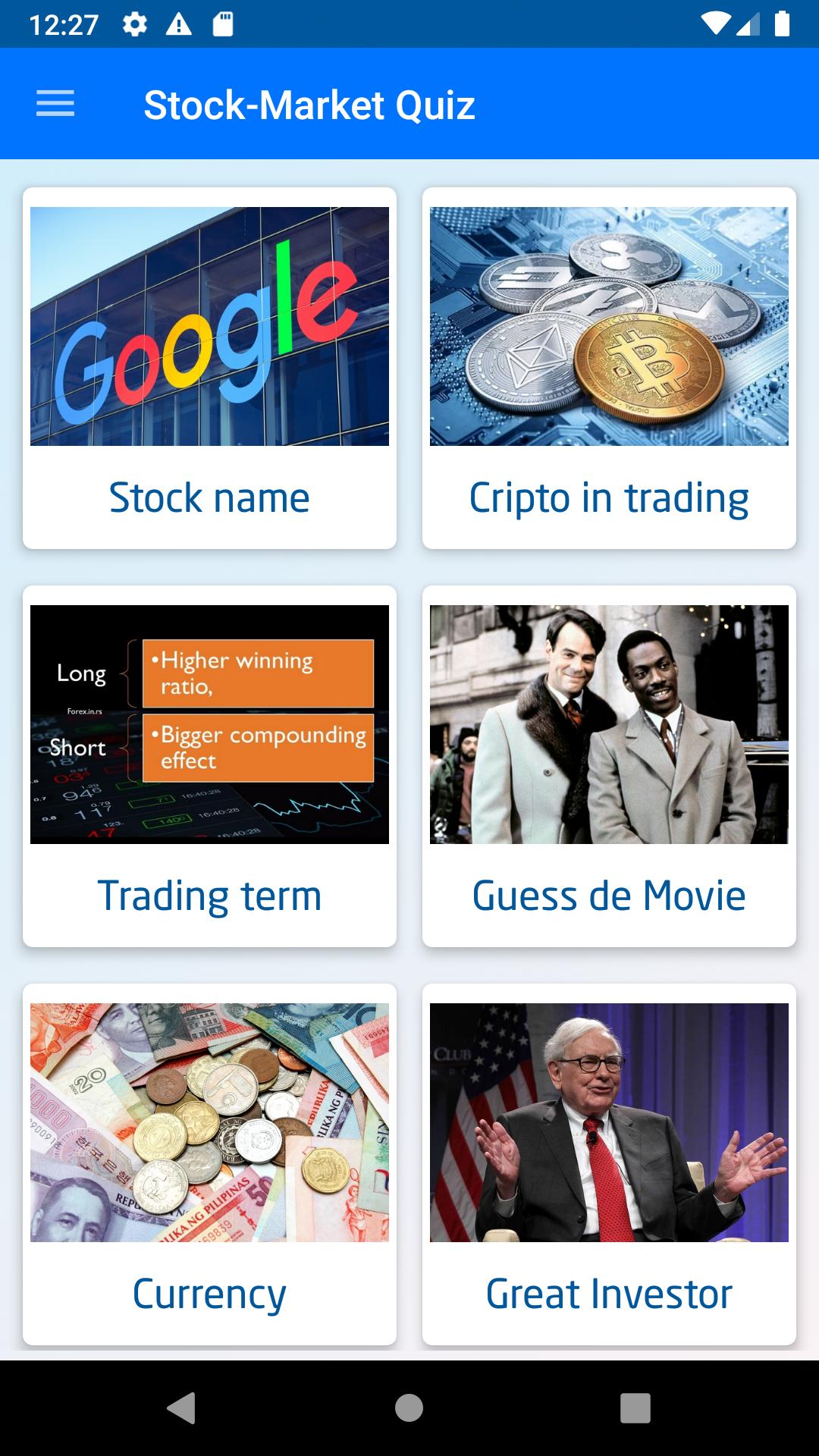 Stock-Market Quiz