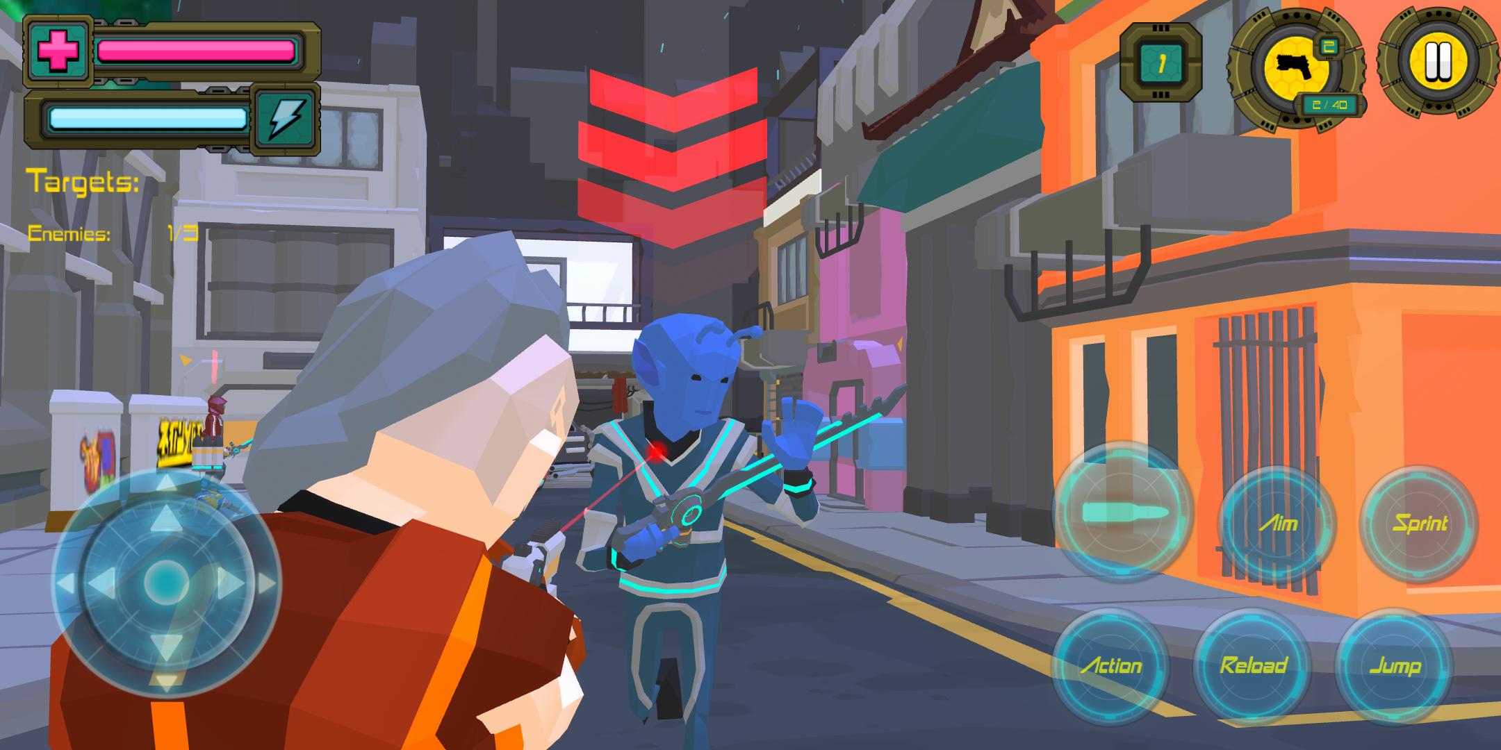Polygon Cyber City 77: Crime Shooting Games 2021