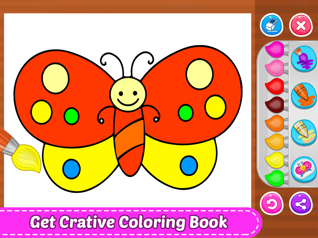 Glitter Coloring Book For Toddler