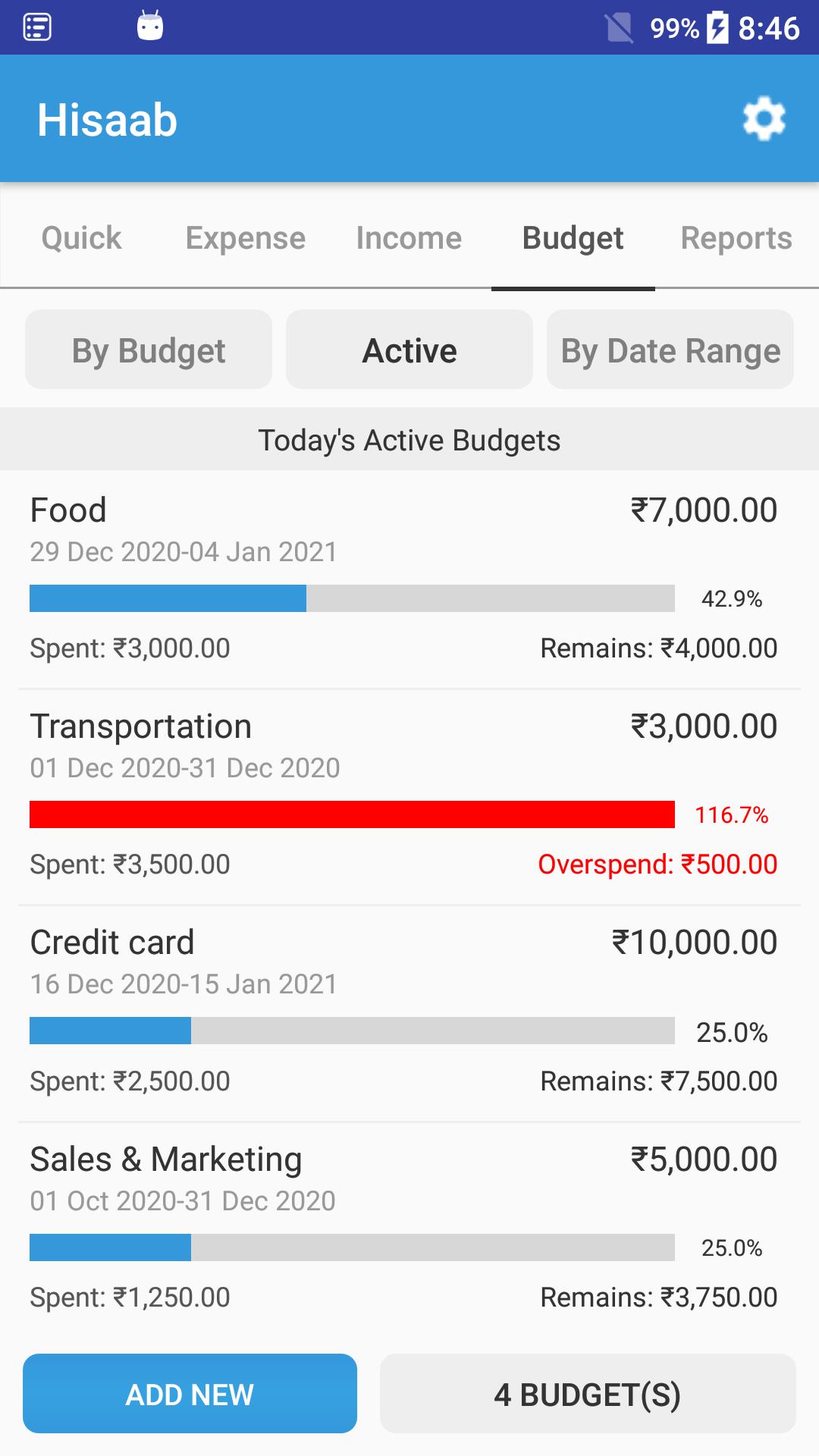 Hisaab: Simple Expense, Budget & Money Tracker