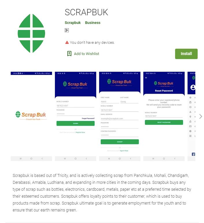 Scrapbuk - Scrap Selling App