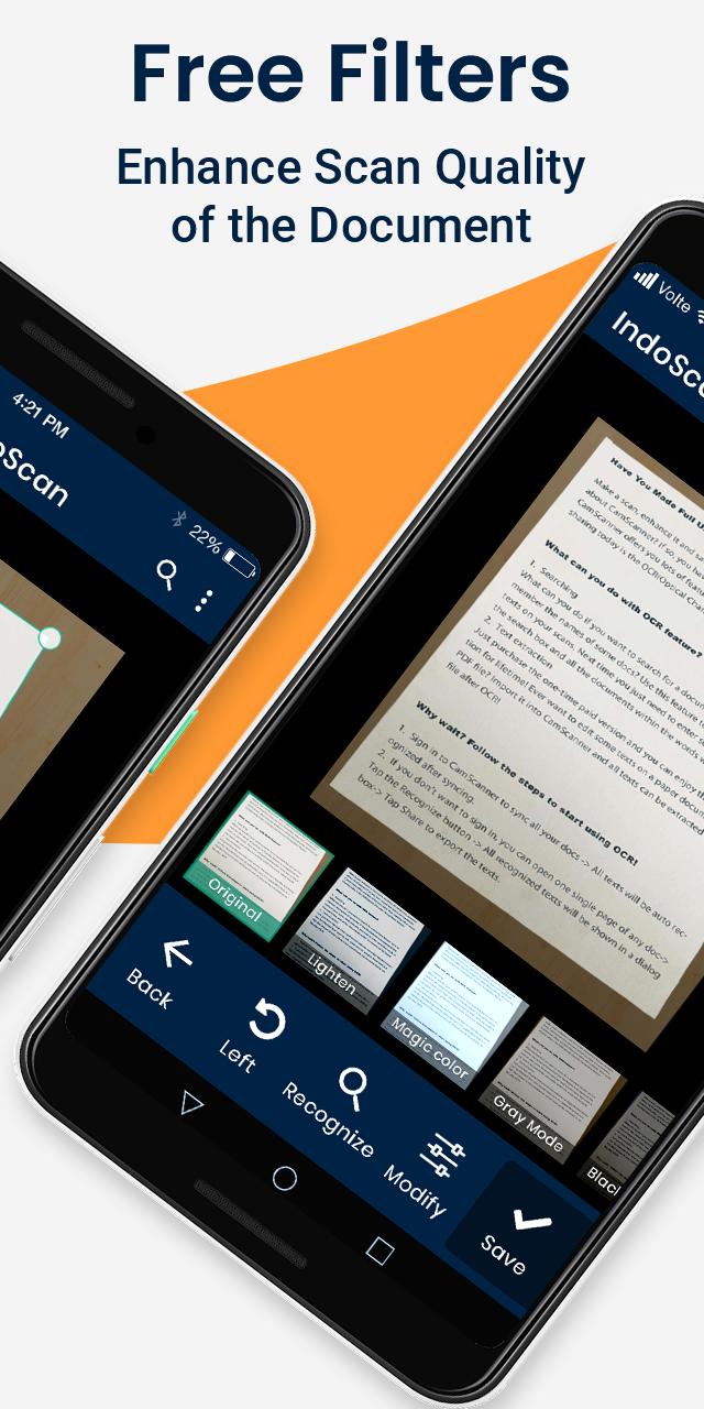 Indoscan: Free Document scanner & PDF Creator App