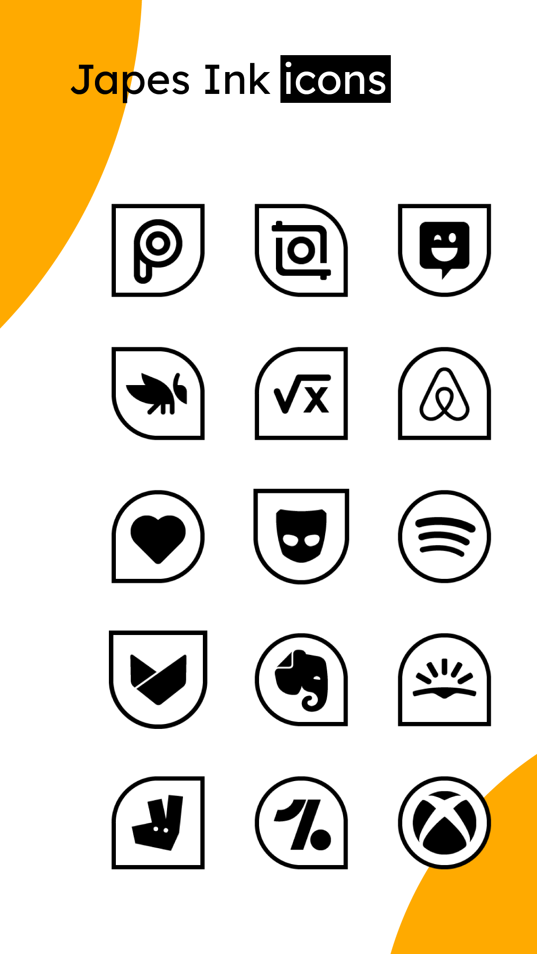 Japes Ink - Black & white HD icon pack