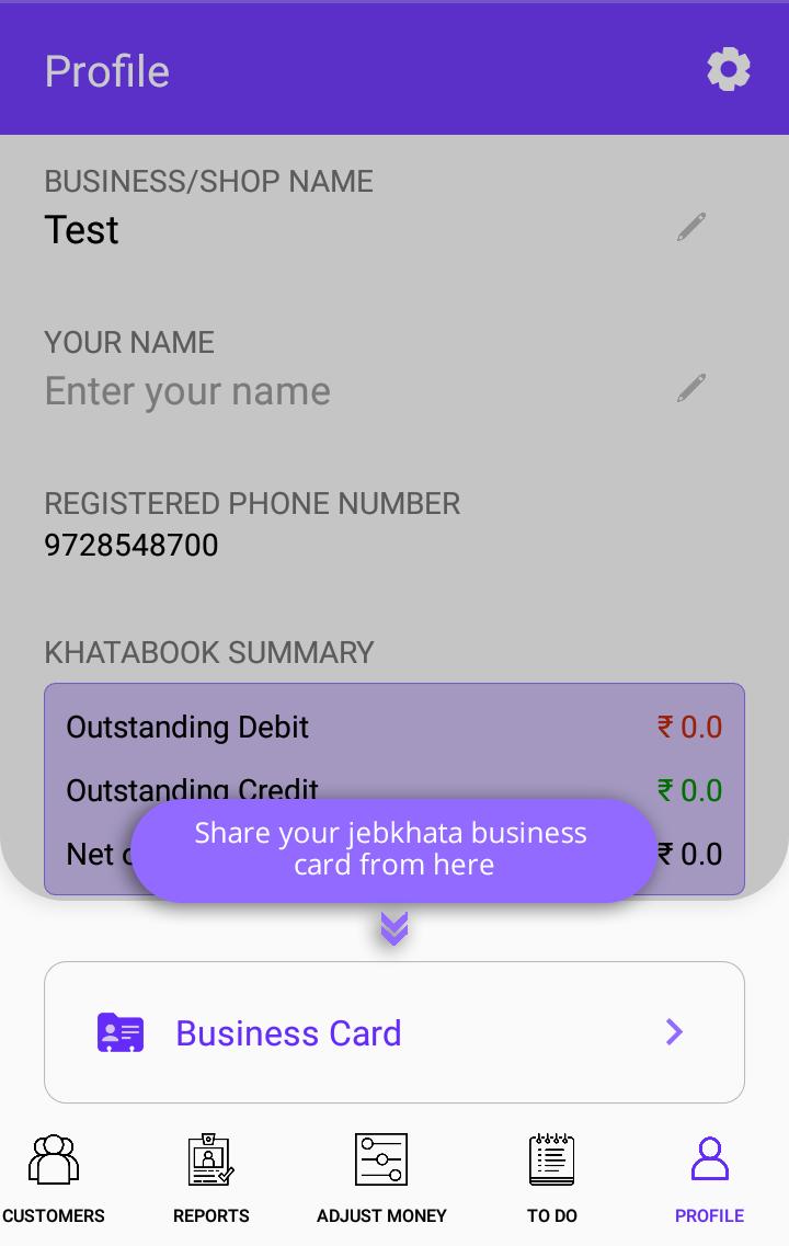 JebKhata-Digital Udhar Bahi Khata,Free Ledger Book