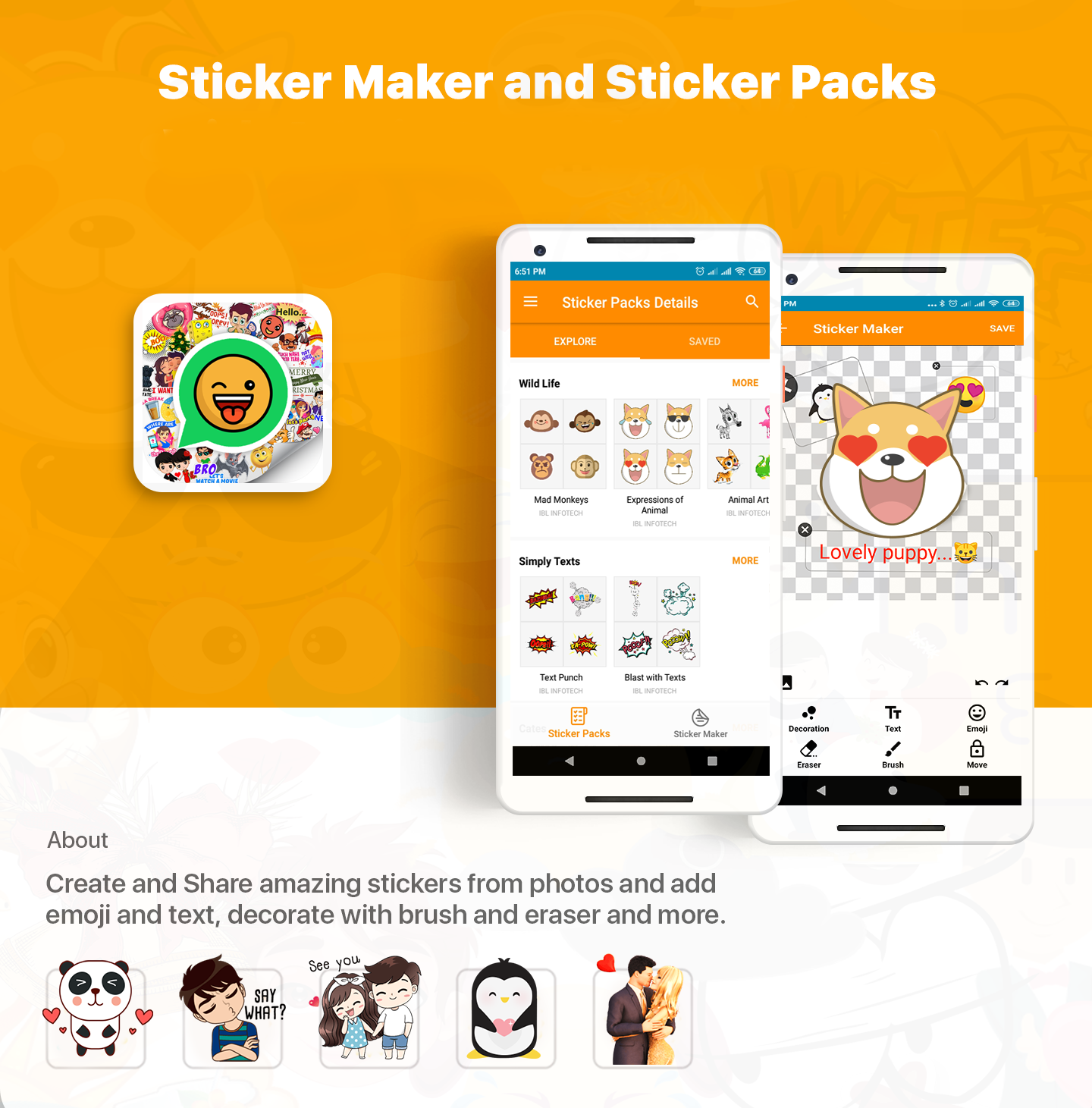 Stickers For Whatsapp Free WAStickerApps