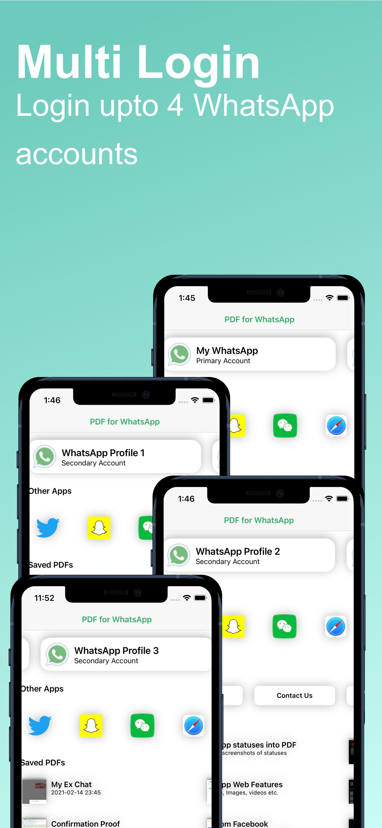 PDF for WhatsApp: Multi Login