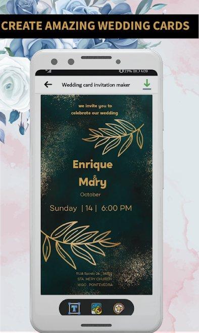 Wedding card invitation maker : greeting card rsvp