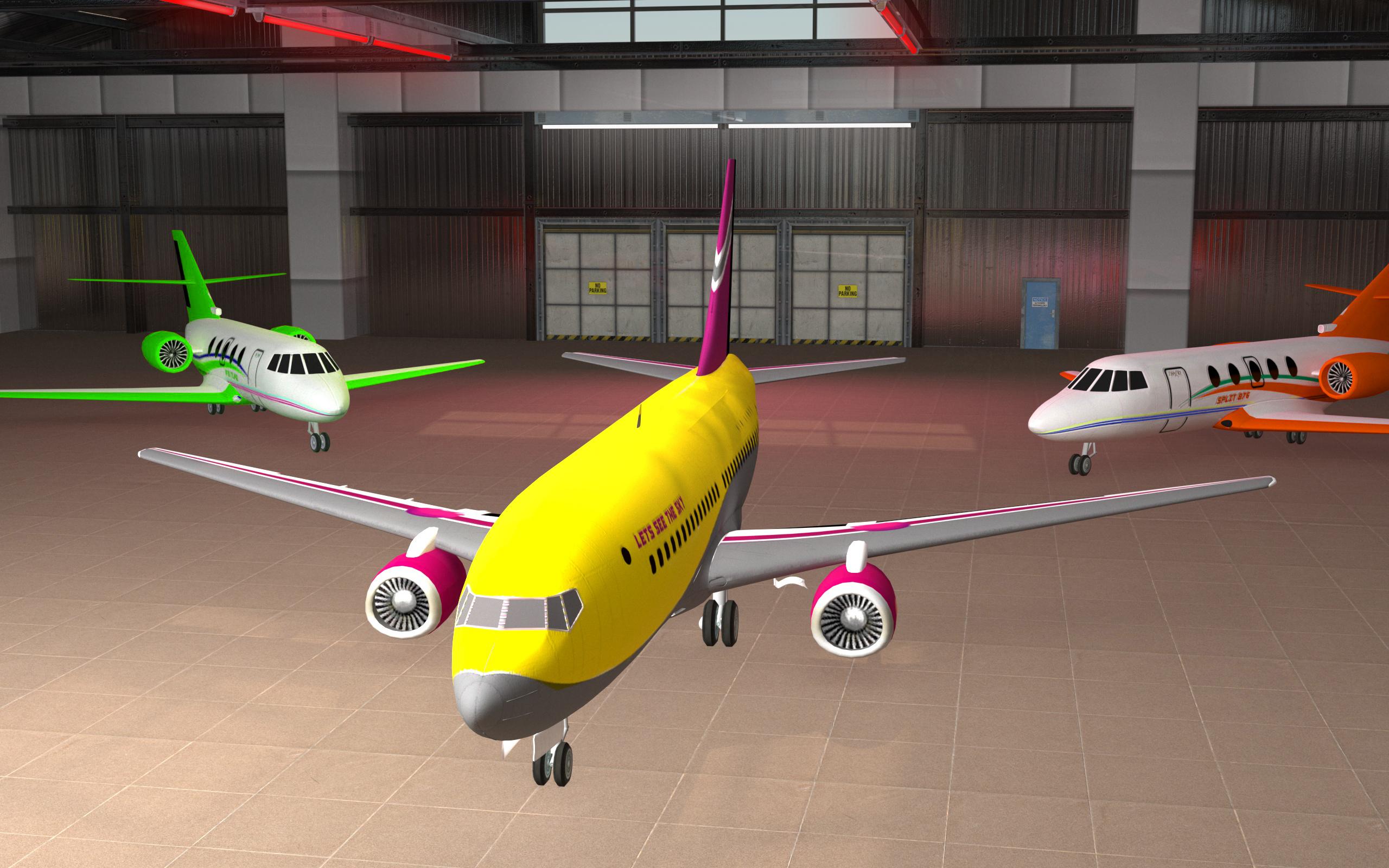 Flying Air Plane Simulator 3d - Pilot Plane Game