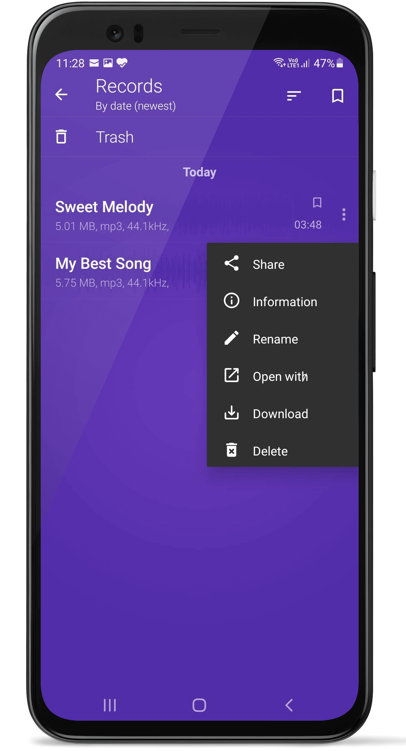 Audio Recorder and Player Free Fast Crystal clear