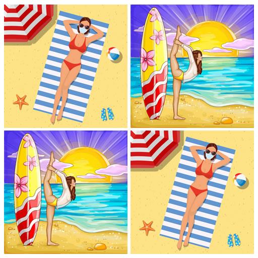 Bikini Girls Match Card Memory Game