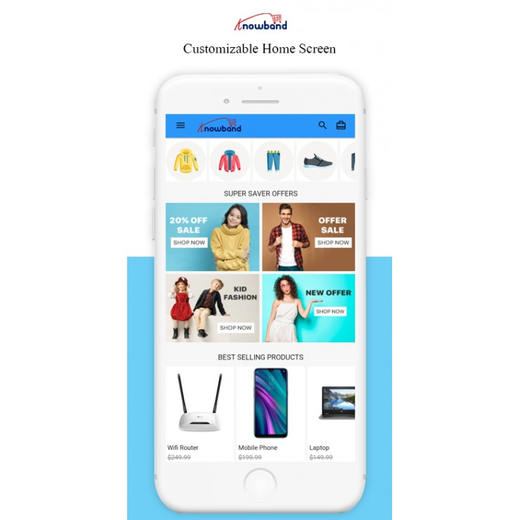Nautica OpenCart Mobile App