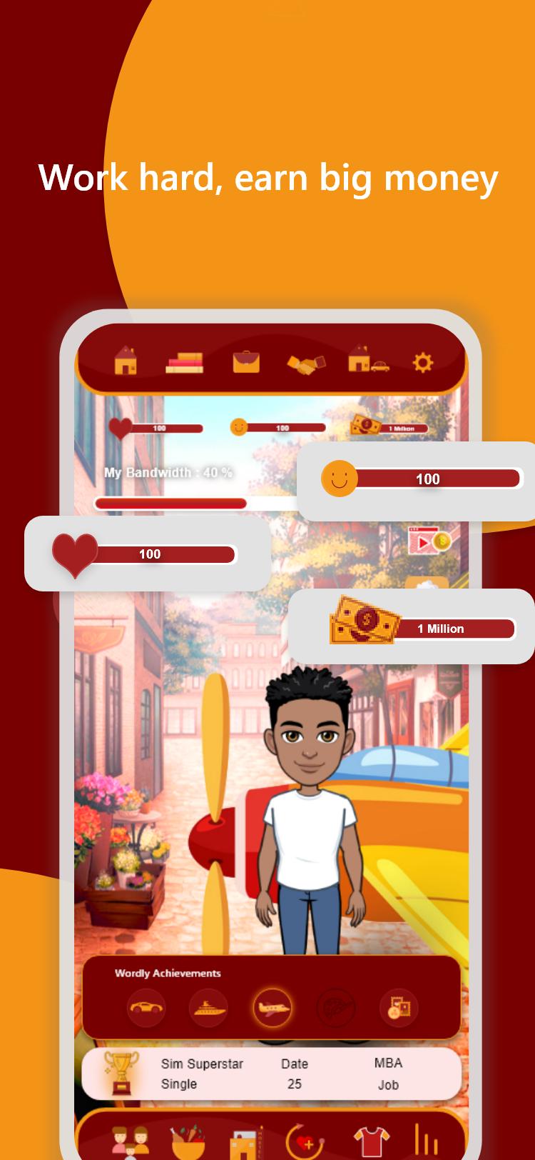 Alpha Sim: Life Simulator Game