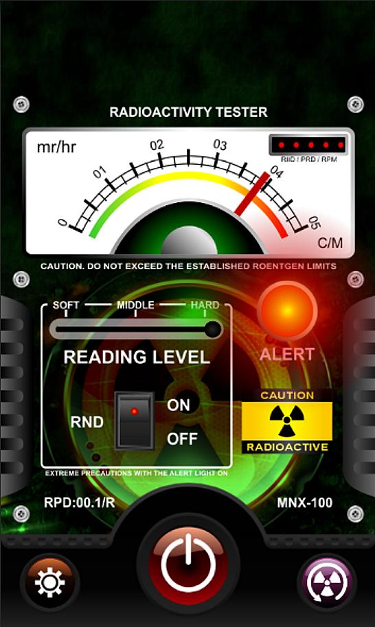 Radioactivity Prank Detector. The terror scanner