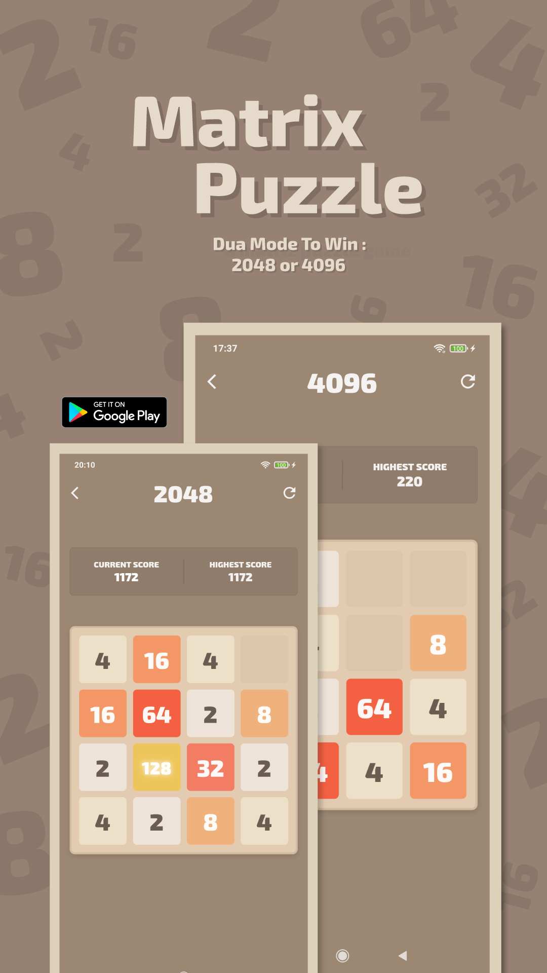 Matrix Puzzle - 2048 Or 4096
