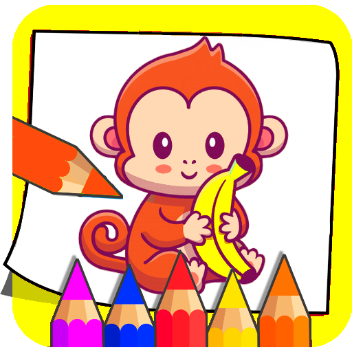 SuperHero Bingo Monkey & Coloring Games