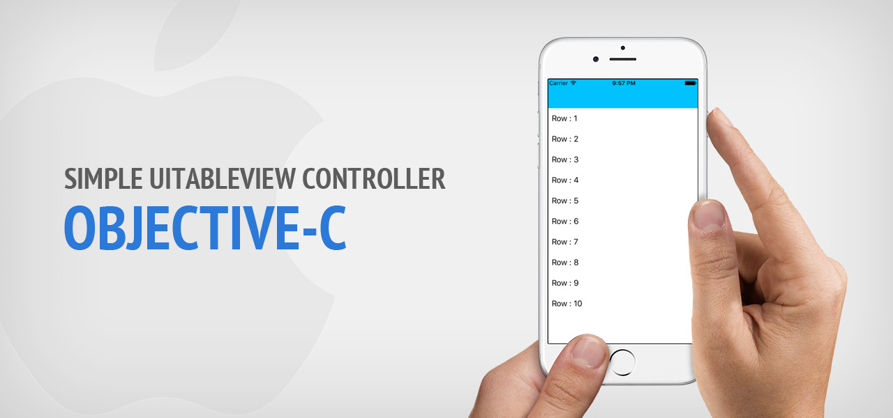 Simple UITableView Controller ? Objective-C