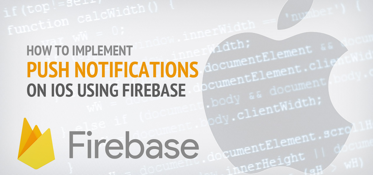 How to implement push notifications on iOS using firebase